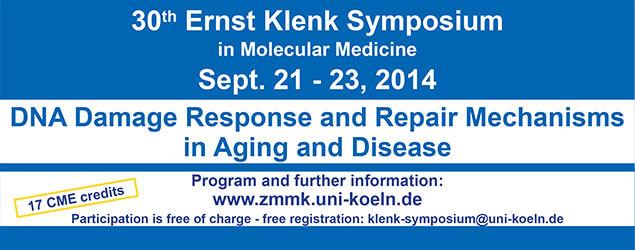 30th Ernst Klenk Symposium in Molecular Medicine 2014